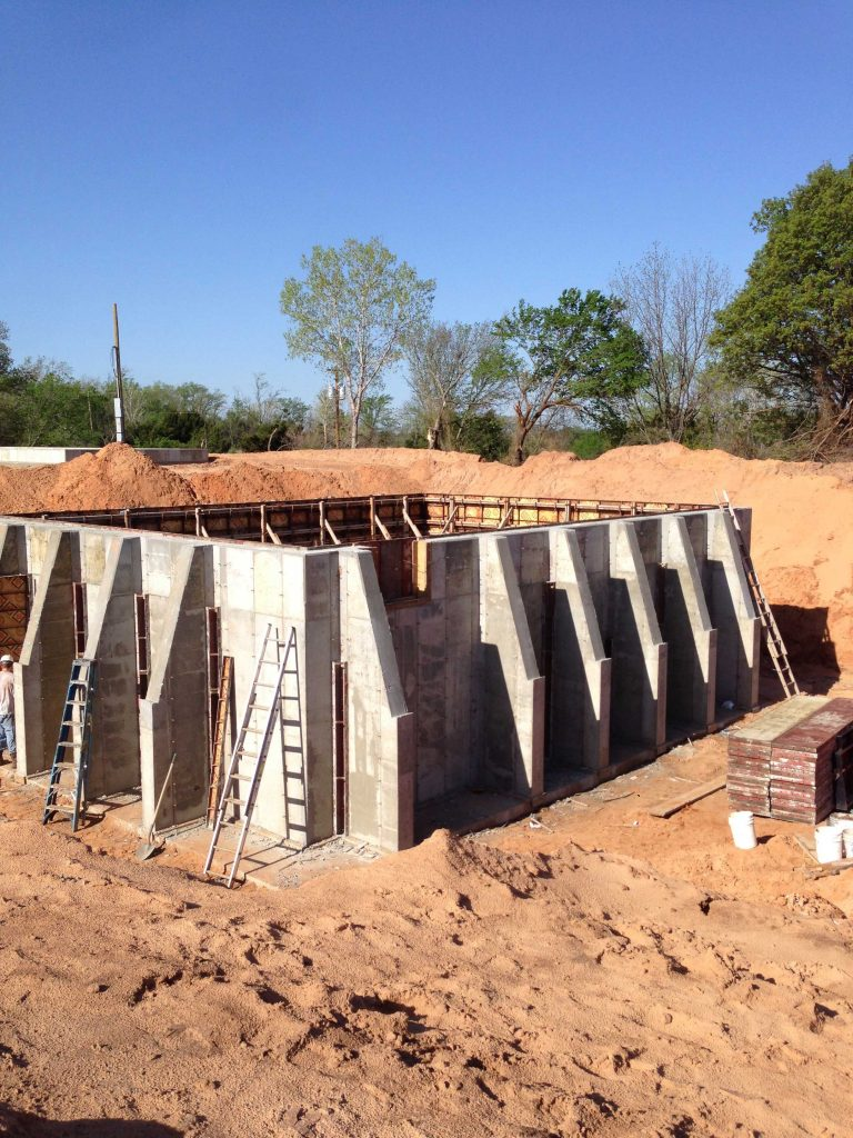 oil field concrete wall finished