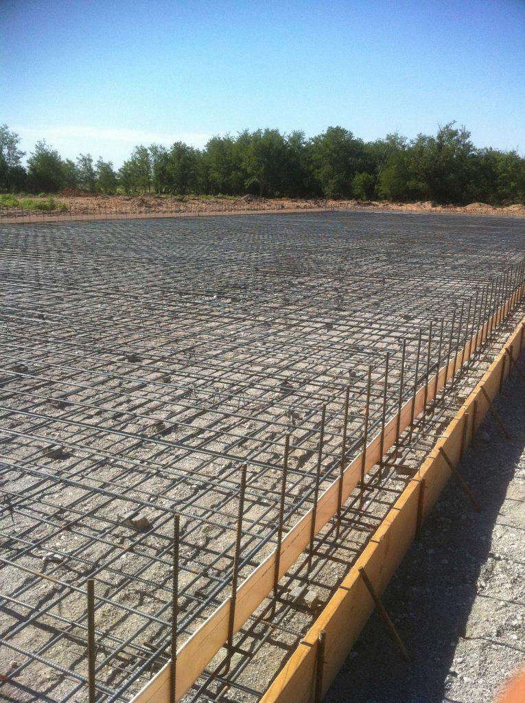 cast prepared for concrete pouring