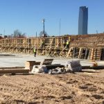 preparation of channel wall in Riversport Rapids Whitewater Rafting and Kayak Center