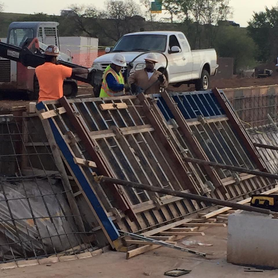 preparation of first sloped wall in Riversport Rapids Whitewater Rafting and Kayak Center