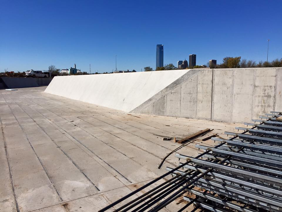 slope wall finished in Riversport Rapids Whitewater Rafting and Kayak Center